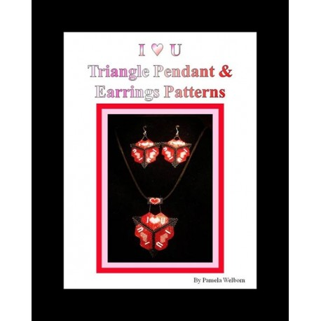 I HEART U Triangle Pendant & Earring Pattern