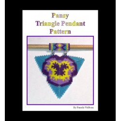 Pansey Triangle Pendant Pattern with word chart