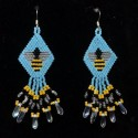 Tiny Bumble Bee Hand Beaded Earrings