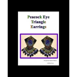 Peacock Eye Triangle Earring Pattern