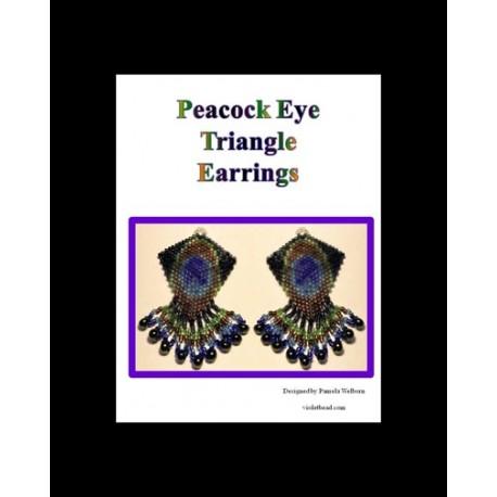 Peacock Eye Triangle Earring Pattern