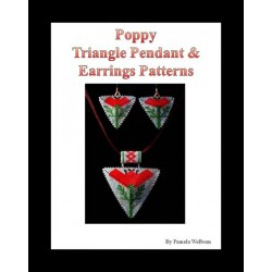 Poppy Triangle Pendant & Earring Pattern with word chart
