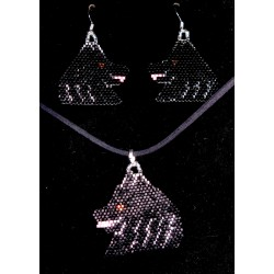 Schipperke Earrings and Pendant Set