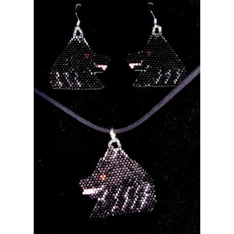 Schipperke Earrings and Pendant Set