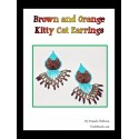 Brown and Orange Kitty Cat Earrings
