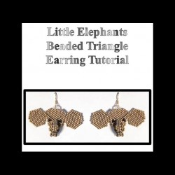 Little Elephant Triangle Beaded Earring Tutorial