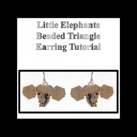 Little Elephant Triangle Beaded Earring Tutorial