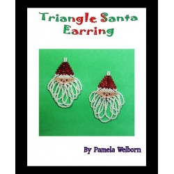 Santa Claus Triangle Earring Tutorial