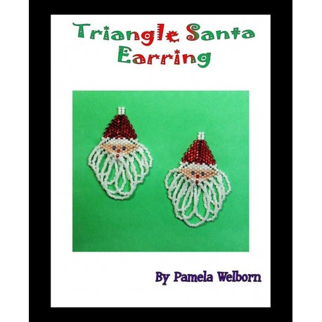 Santa Claus Triangle Earring Tutorial