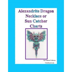 Alexandrite Beaded Dragon Pattern Charts