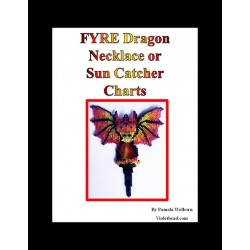 FYRE Beaded Dragon Necklace or Sun Catcher Pattern Charts