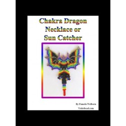 Chakra Beaded Dragon Necklace or Suncatcher Pattern Charts