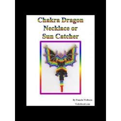 Chakra Beaded Dragon Necklace or Suncatcher Pattern Charts