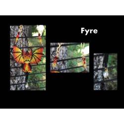 Fyre the Dragon Sun Catcher or Ornament