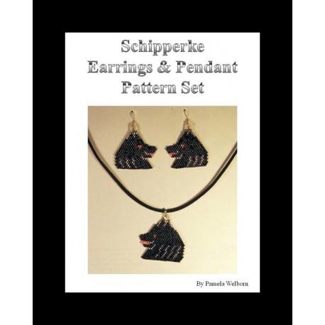 Schipperke Earring and Pendant Pattern Set Beading Patterns