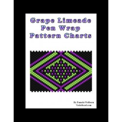 Grape Limeade G2 Beaded Pen Wrap