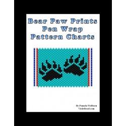 bear paws G2 Beaded Pen Wrap