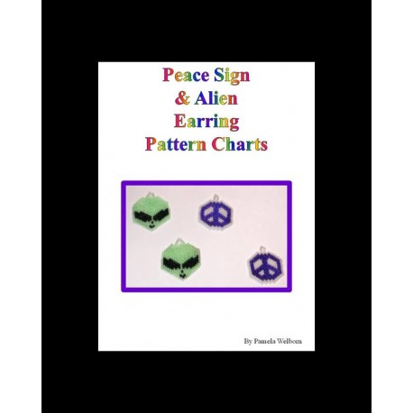 Alien & Peace Sign Earring Patterns