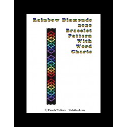Rainbow Diamonds 2020 Bracelet Bead Pattern Chart