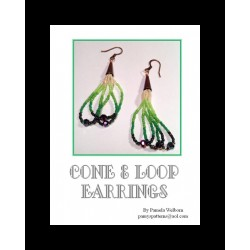 Cone and Loop Seed Bead Earring Tutorial