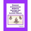 Cancer Awareness Ribbon Earring and Pendant Beading Patterns Set