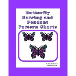Butterfly Pendant and Earrings Beading Patterns