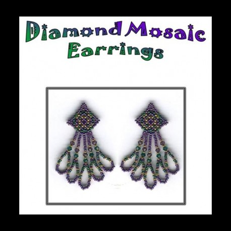 Diamond Mosaic Beaded Earring Tutorial