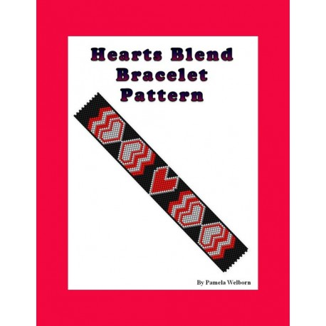 Hearts Knotted Bracelet Bead Pattern Chart