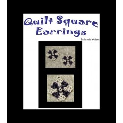Bead Netted Quilt Square Earring tutorial