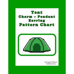 Tent Charm or Pendant Beading Pattern