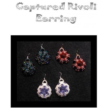 Captured Rivoli Tila Earring Tutorial