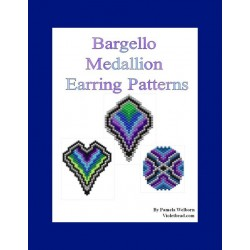 Bargello Medallions Earring Pattern Set