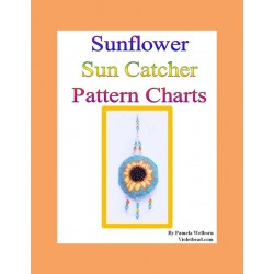 Sunflower Medallion Suncatcher Beading Pattern