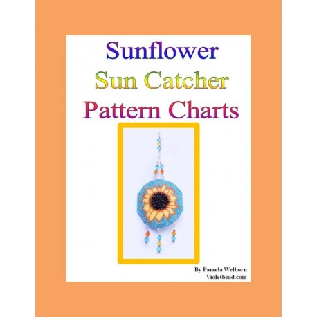 Sunflower Medallion Suncatcher Beading Pattern