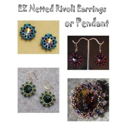 EZ Netted Rivoli Earrings and Pendant Tutorial