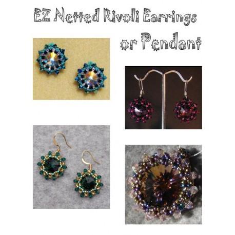 EZ Netted Rivoli Earrings and Pendant Tutorial