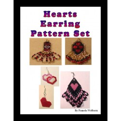 Hearts Earring Pattern Set Beading Patterns