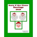 Santa & Mrs Claus 2020 Earring Pattern Charts Set