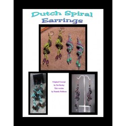Dutch Spiral Beaded Earrings Tutorial