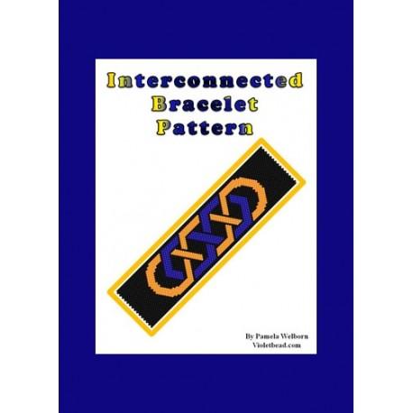 Interconnected Bracelet Bead Pattern Chart