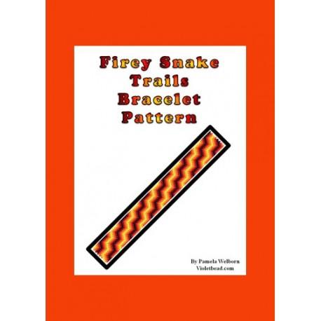 Firey Snake Trails Bracelet Bead Pattern Chart