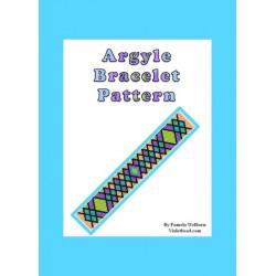 Argyle Bracelet Bead Pattern Chart
