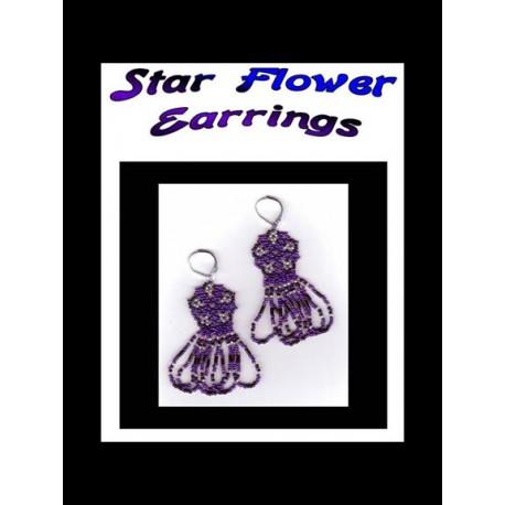 Star Flower Netted Beaded Earring Tutorial