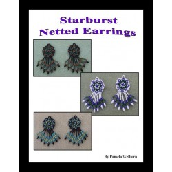 Starburst Net Weave Beaded Earring Tutorial