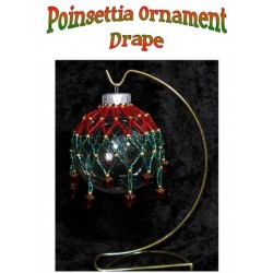 Poinsettia Beaded Christmas Ornament Drape / Cover Tutorial