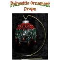 Poinsettia Beaded Christmas Ornament Drape / Cover Tutorial