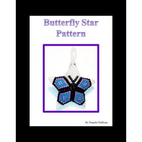 Inner Star Beaded 3D Star Pendant pattern