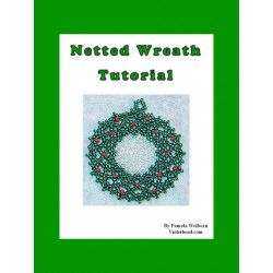 Netted Wreath Flat Ornament tutorial