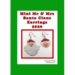 Mini Mr & Mrs Santa Claus 2020 Earring Pattern Charts Set