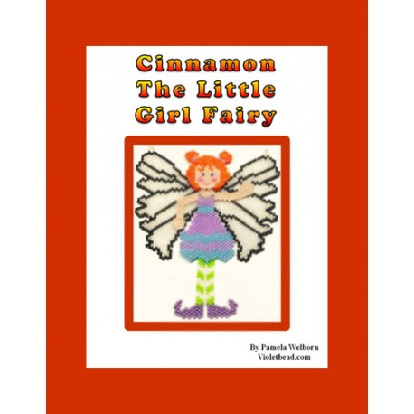Cinnamon the Fairy Necklace or Sun Catcher Bead Pattern Chart